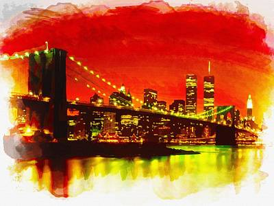 Evening In New York City Original by Don Kuing