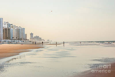 Evening At Panama City Art Print by Debbie Green