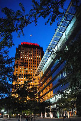 Evening At Ppl Plaza - Allentown Pa  Vertical Art Print