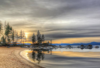 Photograph - Evening At Sand Harbor by Maria Coulson