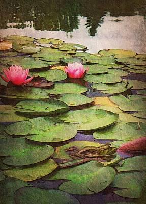 Evening At The Frog Pond Original by Joy Nichols