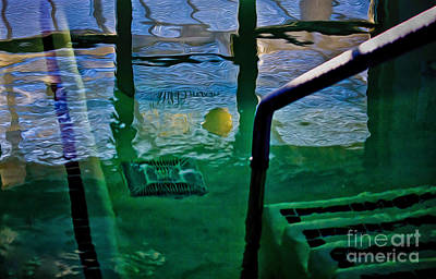 Digital Art - Evening At The Pool by Georgianne Giese