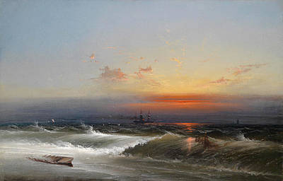 Evening Atmosphere Over A Coastal Landscape Print by James Hamilton