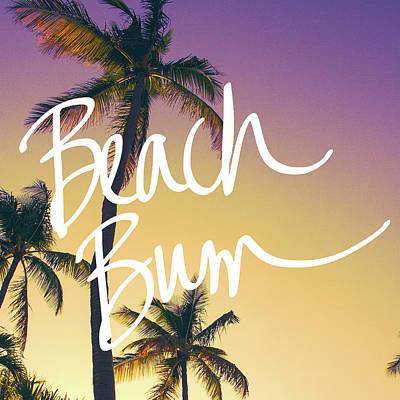 Evening Beach Bum Print by Emily Navas