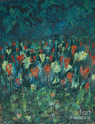 Art Print featuring the painting Evening Buds by Mini Arora