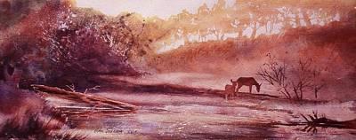 Evening By The Creek Art Print by John  Svenson