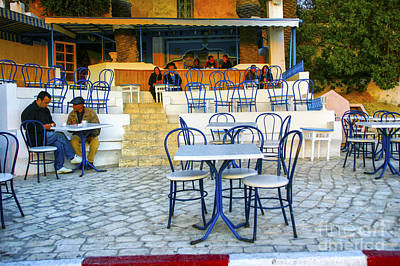 Photograph - Evening Cafe Tunis by Rick Bragan