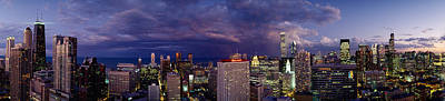 Chicago Il Photograph - Evening Chicago Il by Panoramic Images