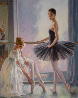 Painting - Evening Class by Serguei Zlenko