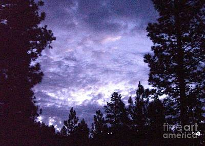 Photograph - Evening Clouds Over Big Bear Lake California by Barbie Corbett-Newmin