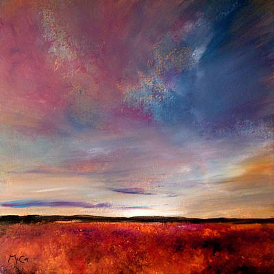 Evening Colours Art Print by K McCoy