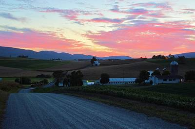 Photograph - Evening Countryside #2 - Millmont Pa by Joel E Blyler