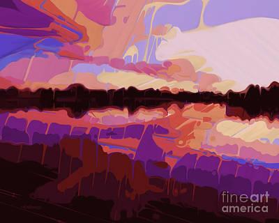 Evening Cove Art Print by Dorinda K Skains