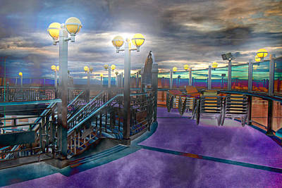 Evening Cruise Lights Art Print