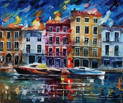 Evening Dream - Palette Knife Oil Painting On Canvas By Leonid Afremov Original by Leonid Afremov