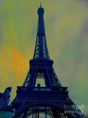 Epic Digital Art - Evening Eiffel Tower by Marina McLain