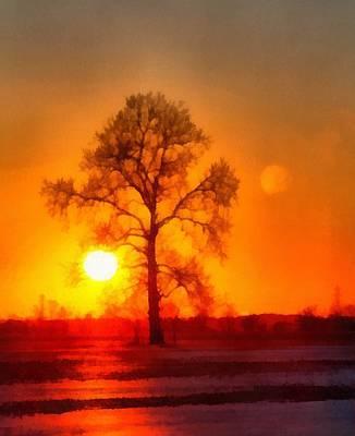 Evening Ember Sunset Art Print