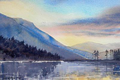 Painting - Evening Falls On Lake Windermere by Glenn Marshall