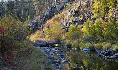 Photograph - Evening Falls On Spring Creek by Dakota Light Photography By Dakota
