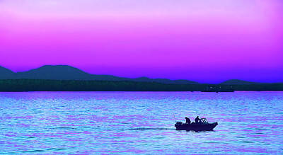 Photograph - Evening Fishermen On The Puget Sound Waters Washington by Jennie Marie Schell