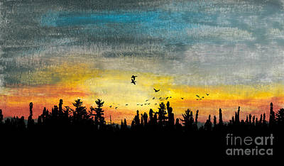 Evening Freedom Art Print