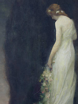 Sadness Painting - Evening by Gabriel-Joseph-Marie-Augustin Ferrier