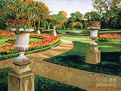 Featured Painting - Evening Garden by David Lloyd Glover