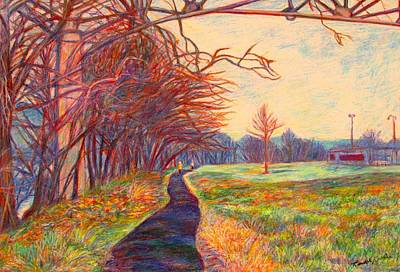 Painting - Evening Glow At Bisset Park by Kendall Kessler