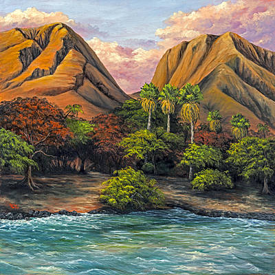Painting - Evening Glow At Olowalu by Darice Machel McGuire