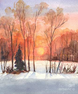 Painting - The Evening Glow by Carol Wisniewski