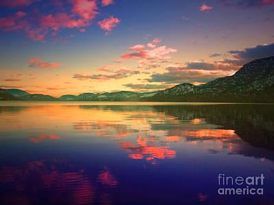 Skaha Lake Photograph - Evening Glow by Tara Turner