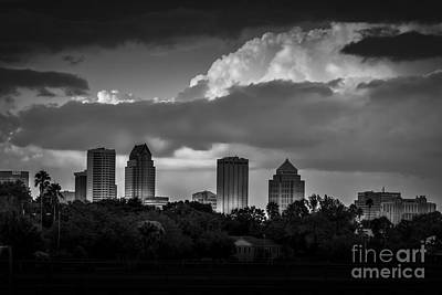 Tampa Skyline Photograph - Evening Gray by Marvin Spates