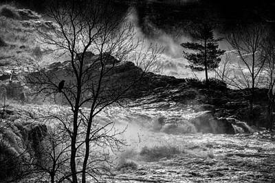 Androscoggin Photograph - Evening Great Falls Maine by Bob Orsillo