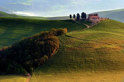 Tuscany Italy Photograph - Evening Hills by Izidor Gasperlin