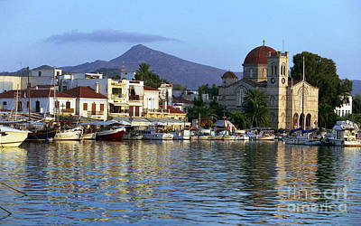 Photograph - Evening In Aegina Town by Paul Cowan