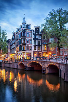 Evening In Amsterdam Art Print