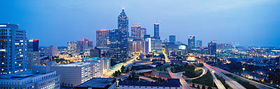 Clear Sky Photograph - Evening In Atlanta, Atlanta, Georgia by Panoramic Images