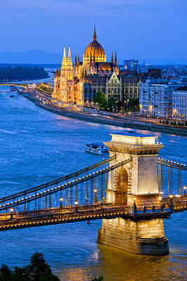 Evening In Budapest Art Print