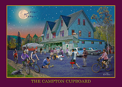 Digital Art - Evening In Campton Village by Nancy Griswold