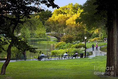 Photograph - Evening In Central Park by Brian Jannsen