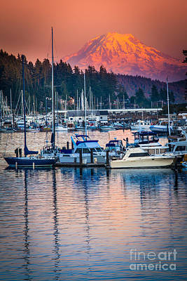 Evening In Gig Harbor Print by Inge Johnsson