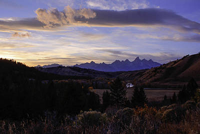 Photograph - Evening In Gros Ventre by Angelique Rea