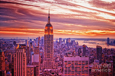 Evening In New York City Art Print