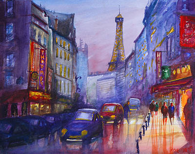 Painting - The City Of Lights, Paris Franc by Lior Ohayon