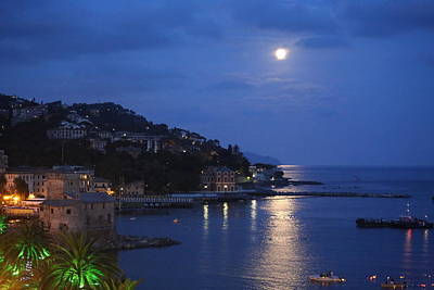 Photograph - Evening In Rapallo by Roberto Galli della Loggia