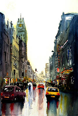 Painting - Evening In The City by Steven Ponsford