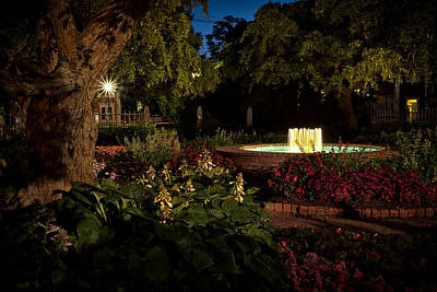 Prescott Park Photograph - Evening In The Garden Prescott Park Gardens At Night by Jeff Sinon