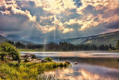 Photograph - Evening In The Rocky Mountain National Park by Brent Durken