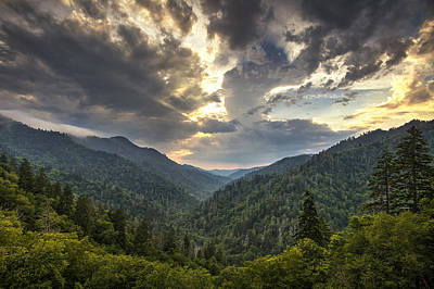 Evening In The Smokies Art Print