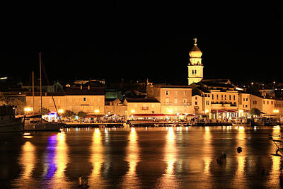 Photograph - Evening In The Town Of Krk Waterfront by Brch Photography